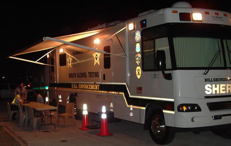 Hillsborough County Sheriff's Office BAT Mobile Unit for DUI Enforcement (breath alcohol testing)